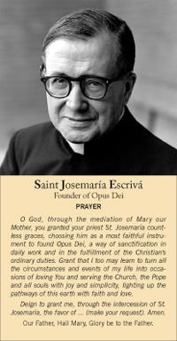 Prayer for the Intercession of St. Josemaria Escriva