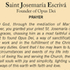 Prayer for the Intercession of St. Josemaria