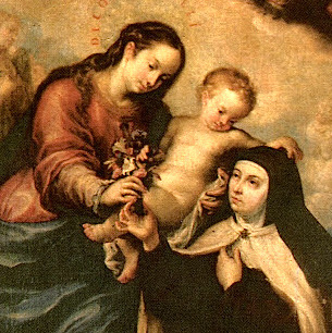 virgin-mary-and-st-teresa-of-avila-painting-on-postcard-spaincrop
