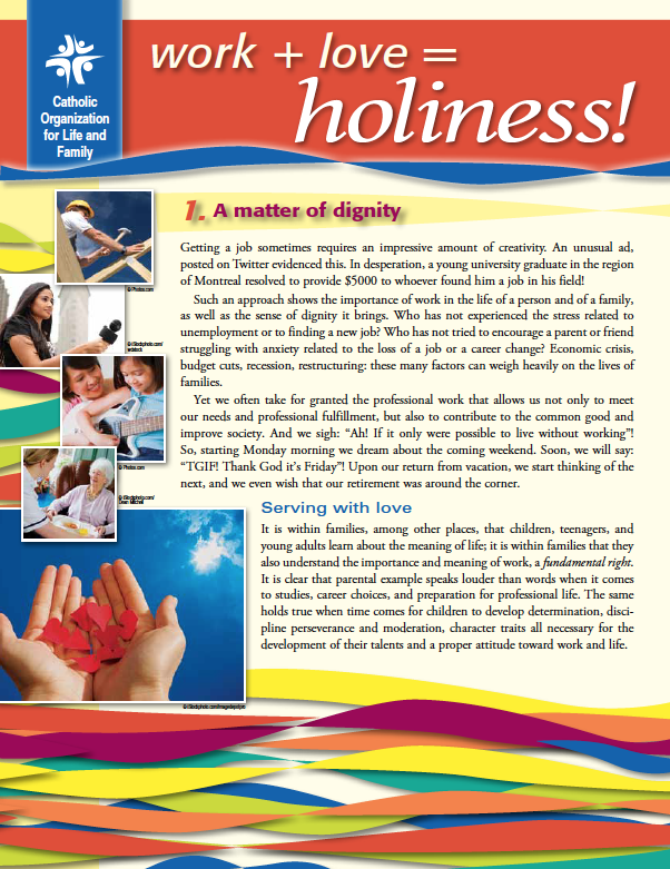 Work + Love = Holiness